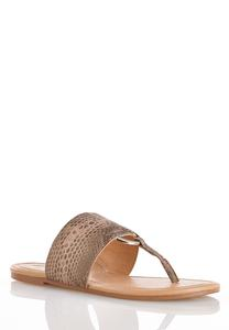 Hoop Detail Thong Sandals
