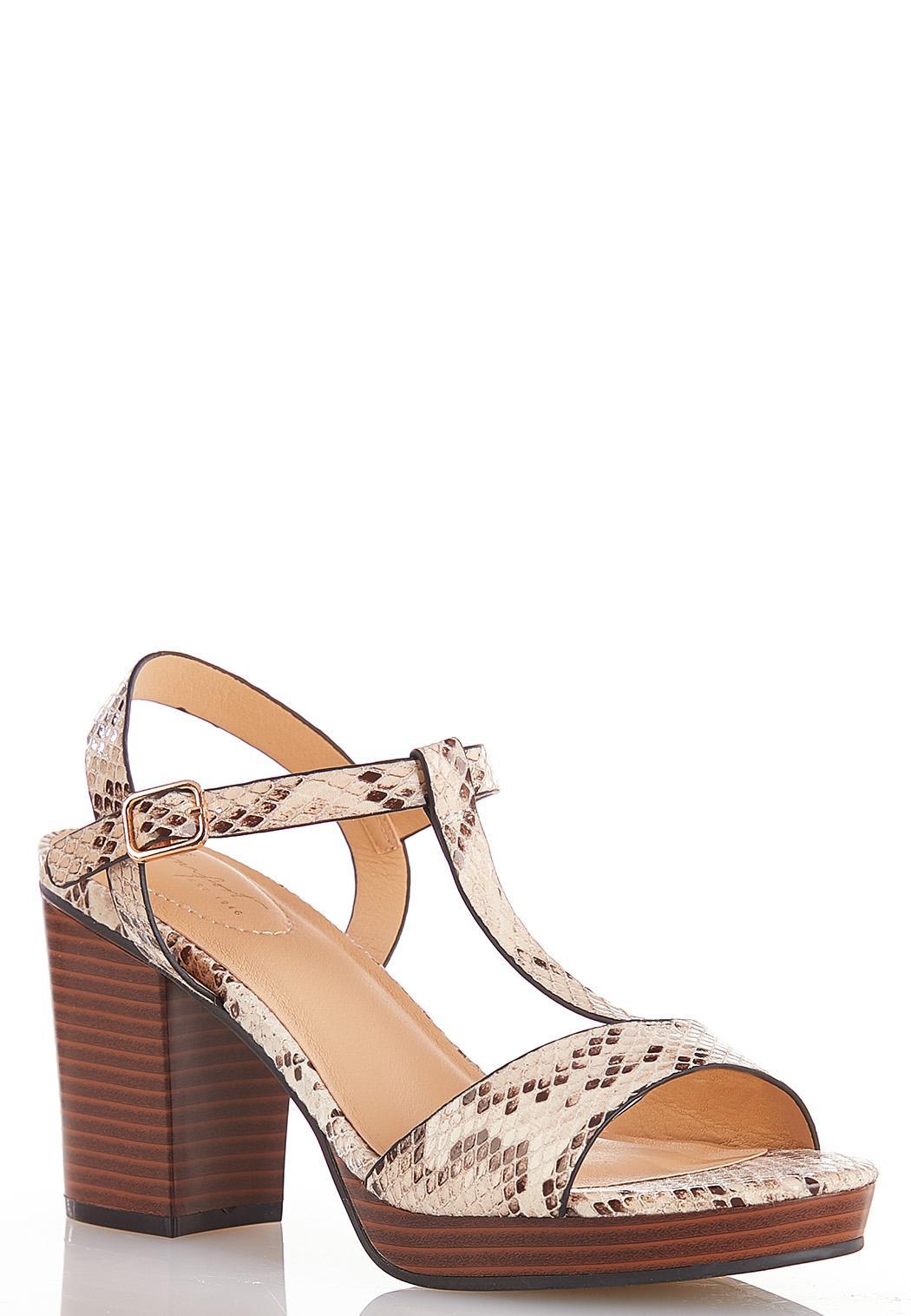 T-Strap Platform Sandals Heels Cato Fashions