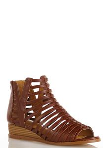 Wide Width Multi Strap Gladiator Booties