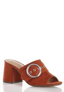 Wide Width Hoop Detail Heeled Sandals