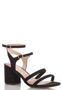 Wide Width Strappy Block Heel Sandals