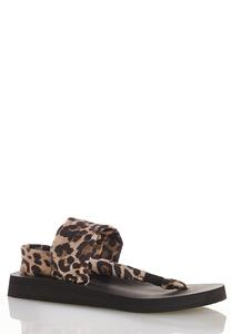 Leopard Band Thong Sandals