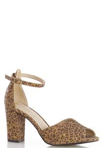 Allover Cork Leopard Sandals