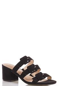 Wide Width Triple Buckle Slide Sandals