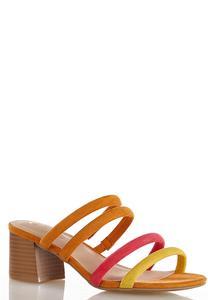 Wide Width Tube Strap Slide Sandals