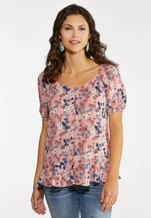 Plus Size Floral Dream Peplum Top