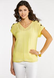 Button Dolman Sleeve Top