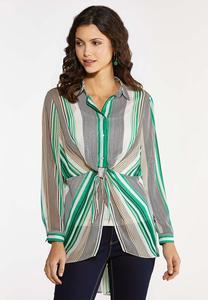 Breezy Tie Front Shirt