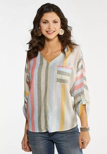 Striped Dolman Sleeve Top