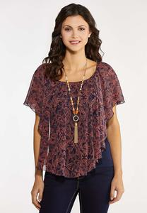 Coral Paisley Capelet