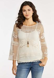 Plus Size Crochet Summer Top