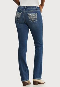 Sequin Embellished Pocket Jeans