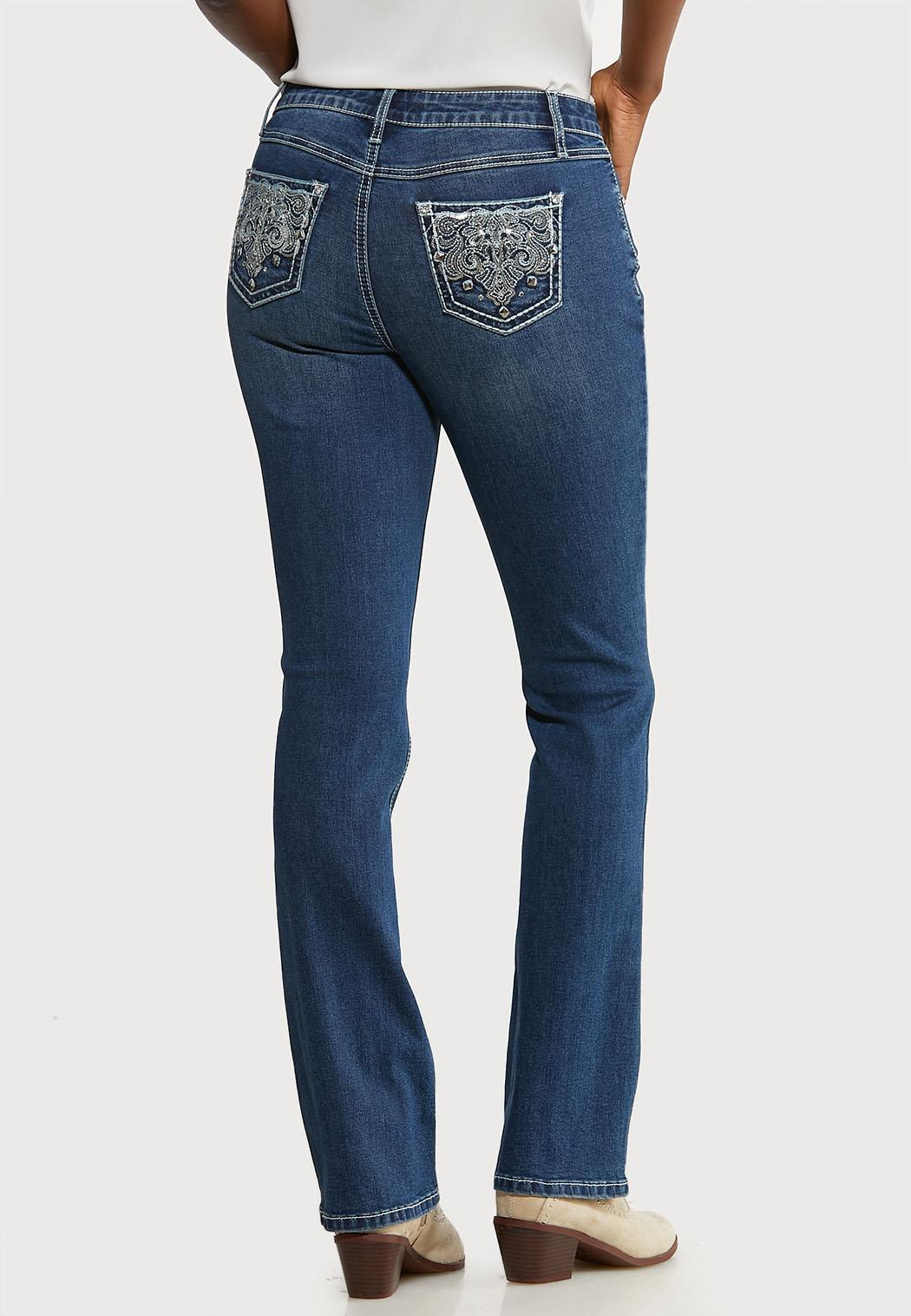 Petite Sequin Embellished Pocket Jeans