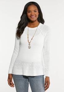 Plus Size Pullover Peplum Sweater