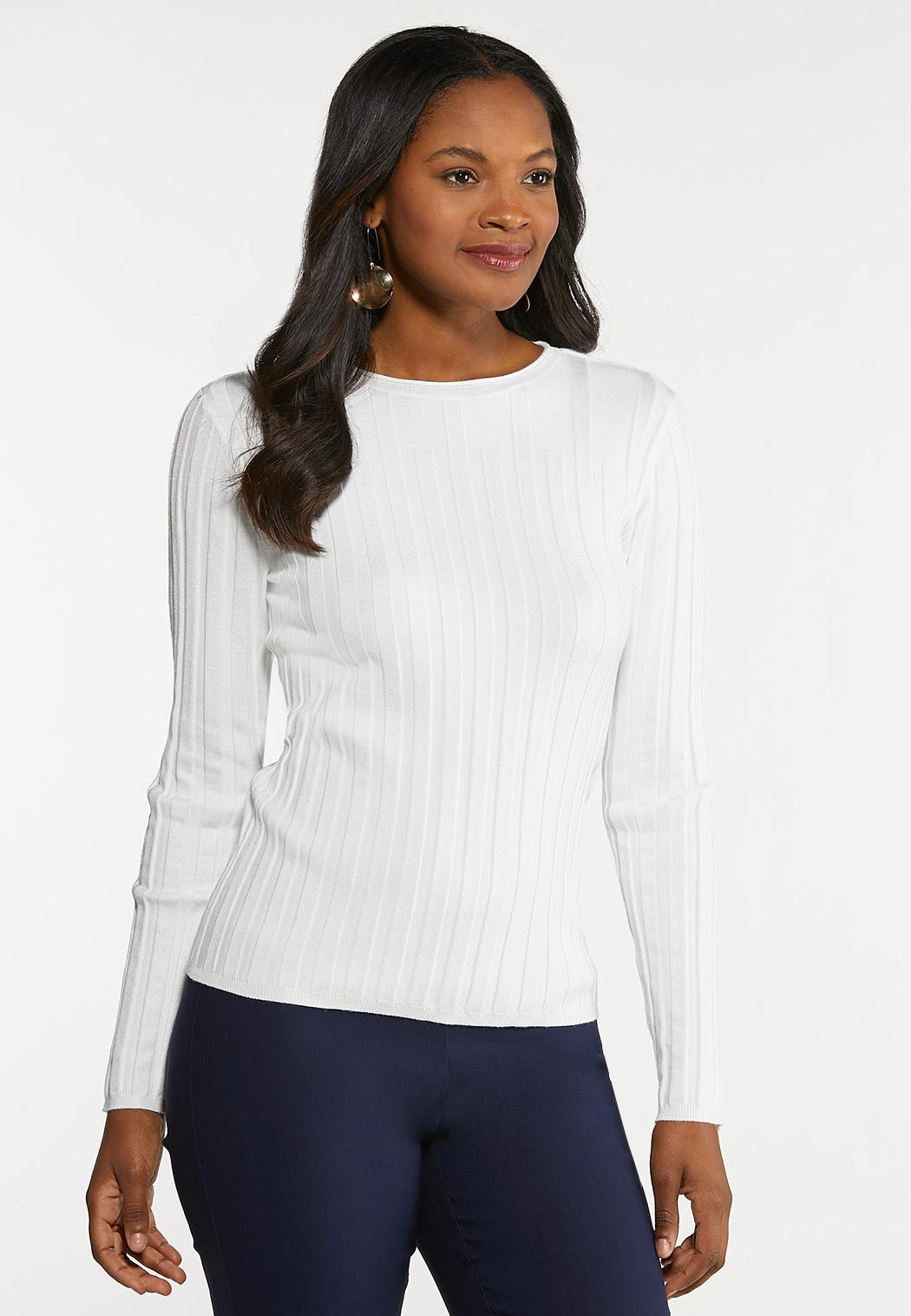 Fitted Ribbed Sweater