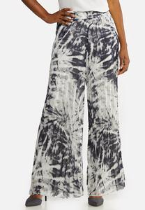 Pleated Tie Dye Pants
