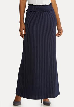 Plus Size Ribbed Maxi Skirt
