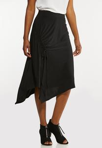 Plus Size Black Asymmetrical Skirt