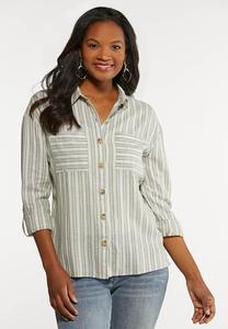 Linen Utility Shirt