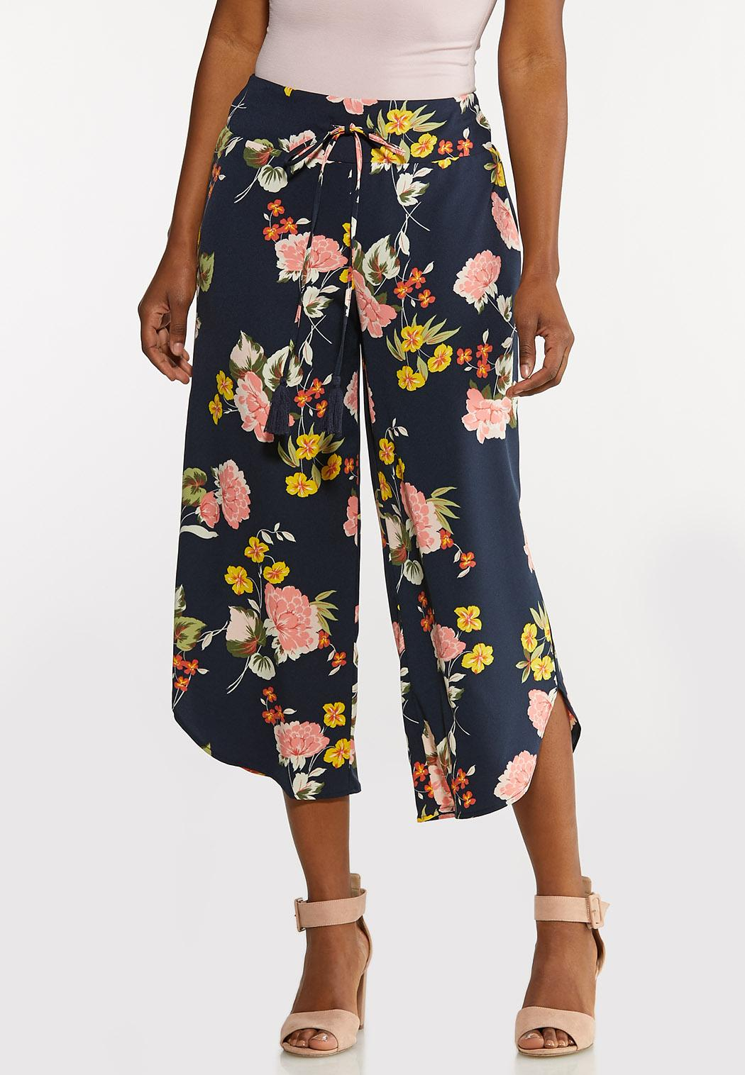 Cropped Floral Pants