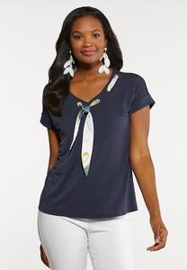 Grommet Scarf Top
