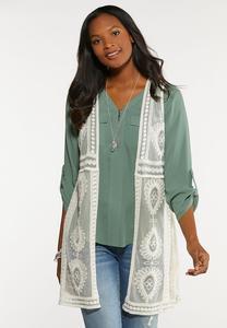 Plus Size Boho Crochet Vest