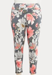 Plus Size Bold Floral Leggings
