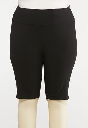 Plus Size Pull- On Stretch Shorts