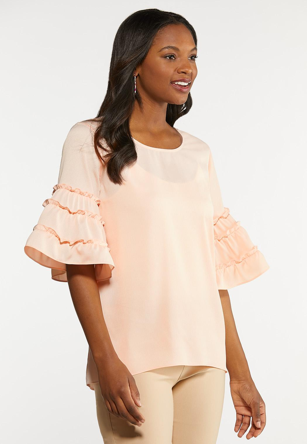 Plus Size Tiered Sleeve Top