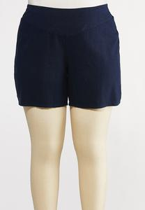 Plus Size Linen Shorts