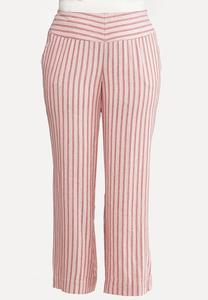 Plus Size Cotton Candy Stripe Pants