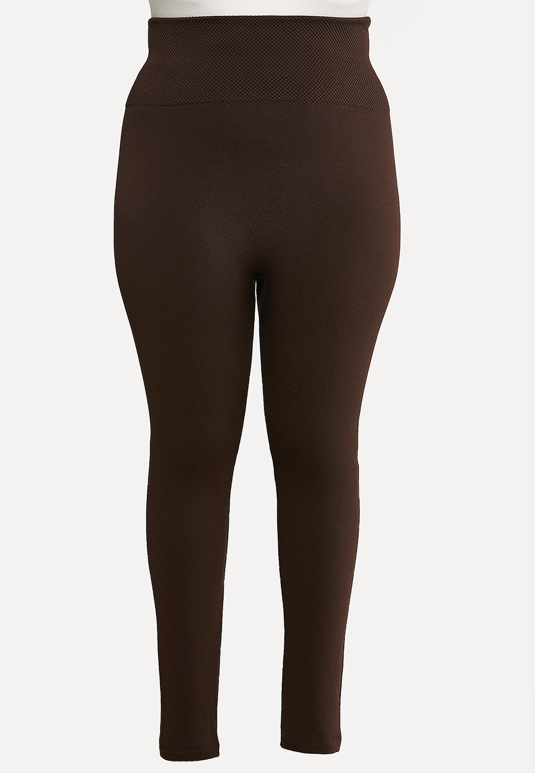 Plus Size Solid Fleece Leggings
