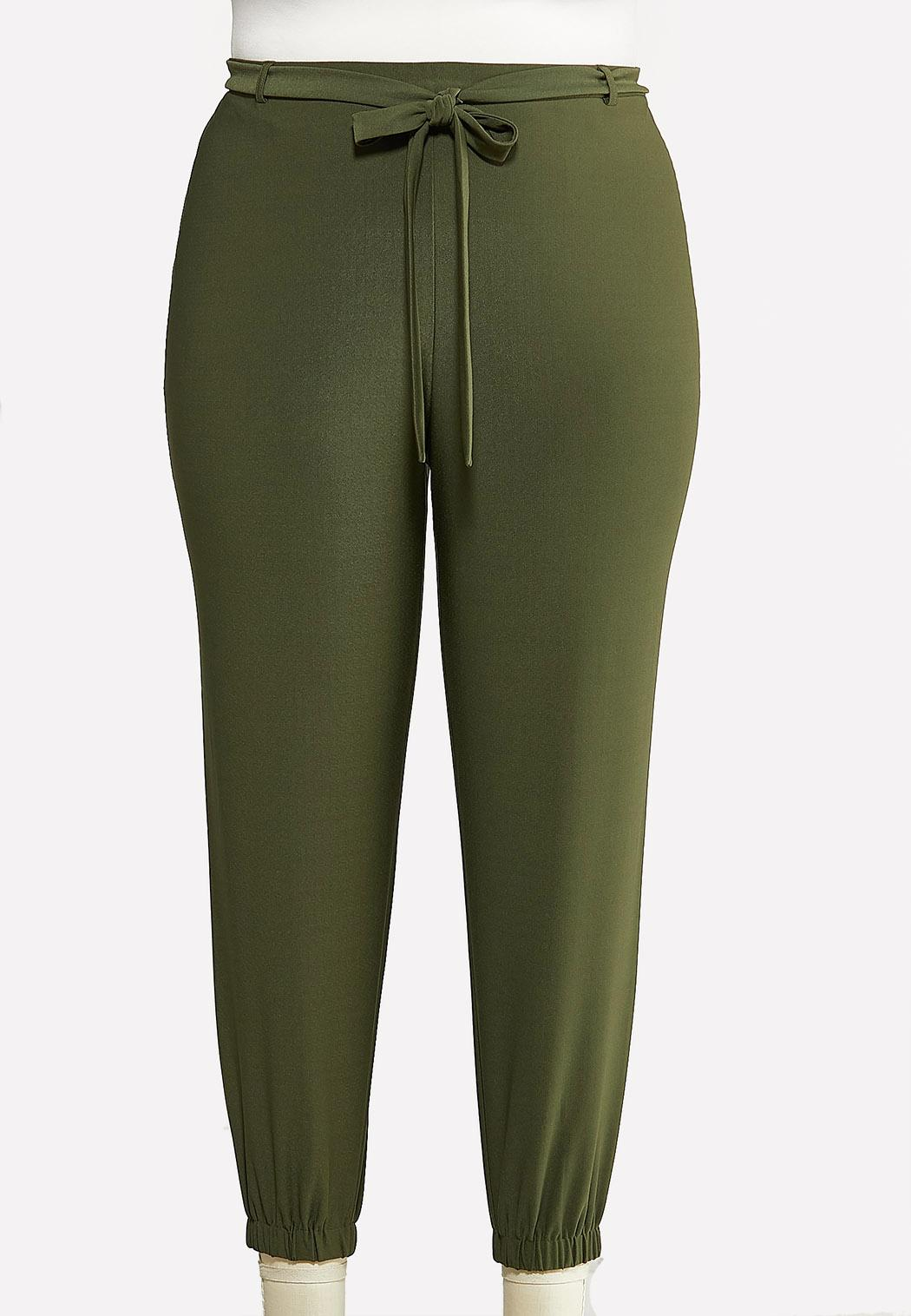 Plus Size Olive Dressy Joggers