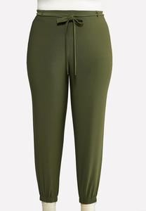 Plus Size Olive Dressy Joggers