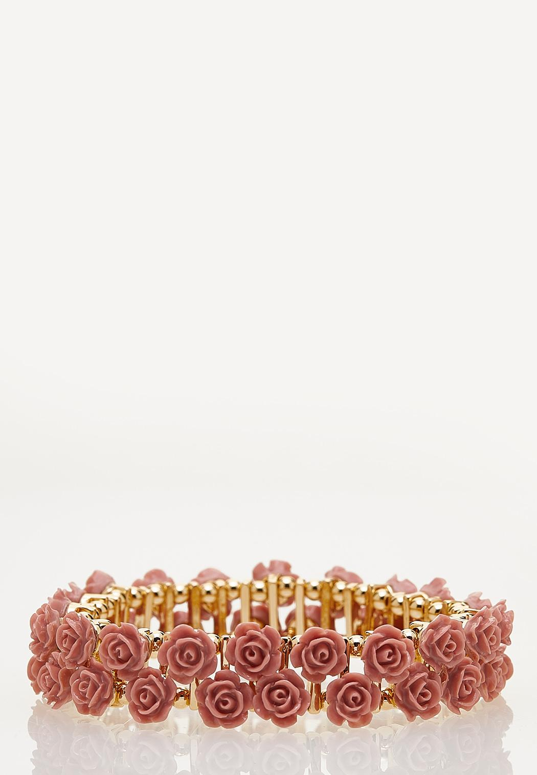 Rose Flower Stretch Bracelet