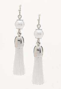 Baby Pearl Tassel Earrings
