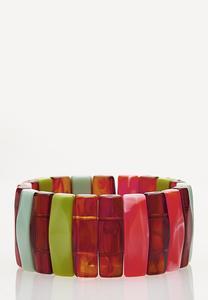 Rainbow Resin Stretch Bracelet