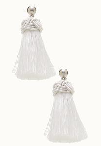 Knot Top Tassel Earrings