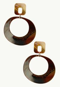 Rocky Road Resin Hoop Earrings