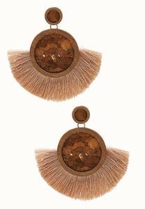 Burlap Tassel Earrings