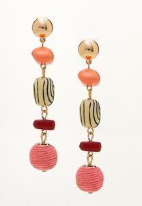 Dangling Mixed Bead Earrings