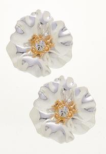 Statement Flower Button Earrings