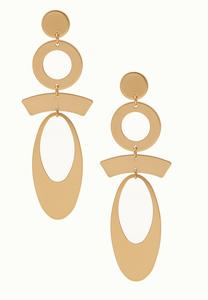 Geo Linear Dangle Earrings