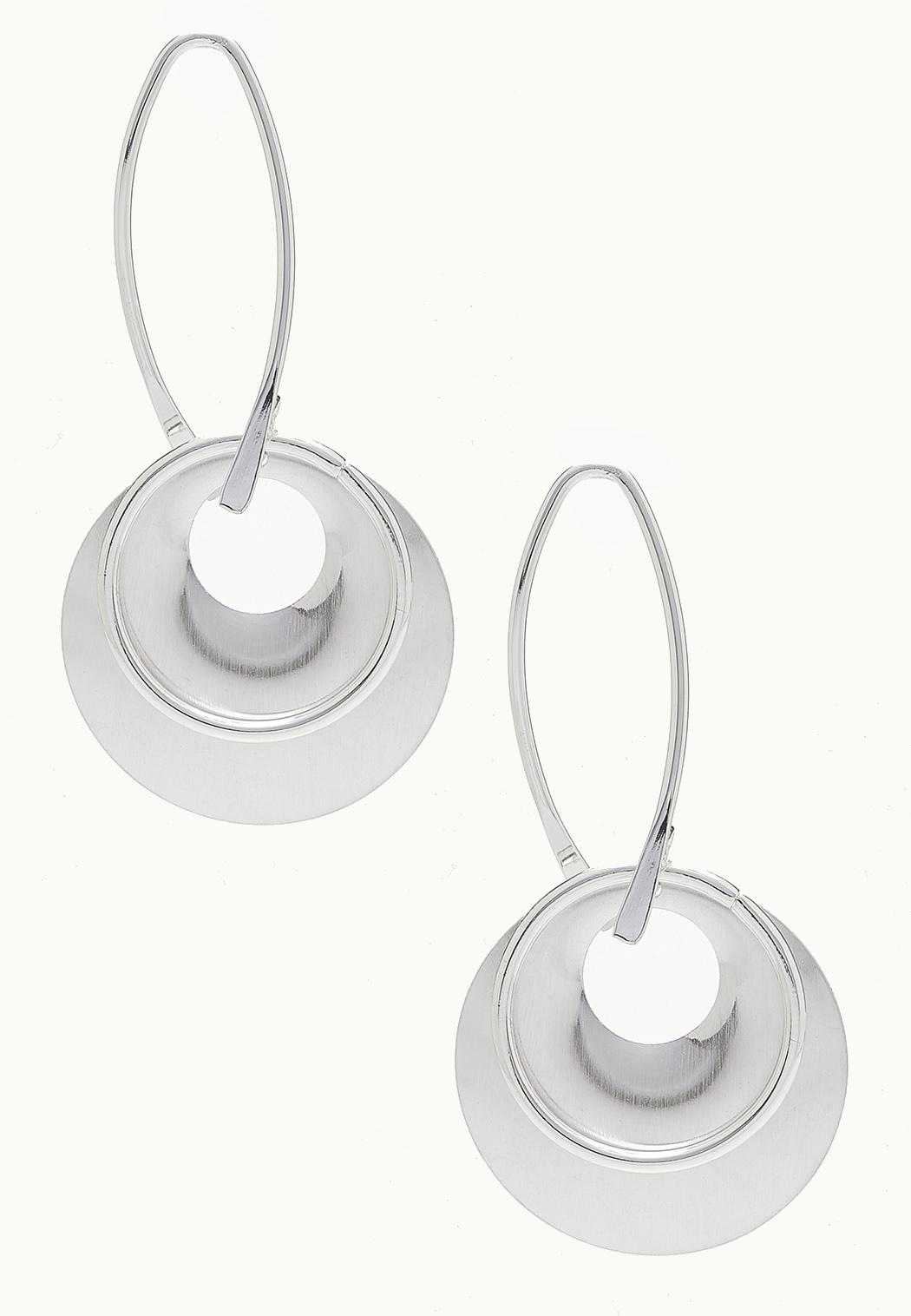 Mod Hoop Dangle Earrings