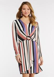 Spring Stripe O-Ring Dress