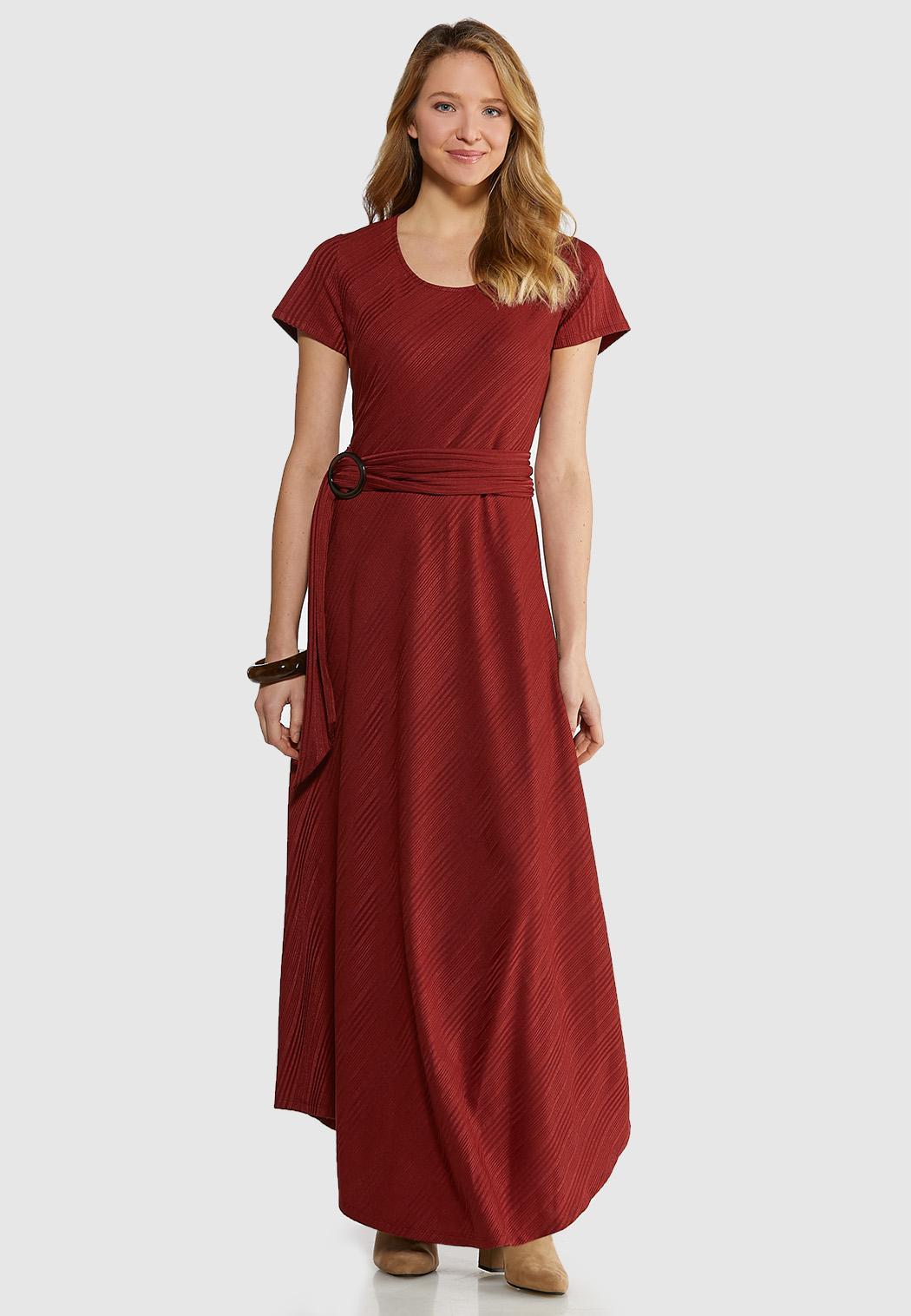Plus Size Ribbed Maxi Dress