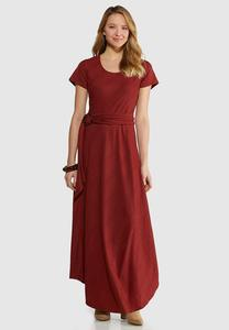 Plus Size Ribbed Maxi Dress