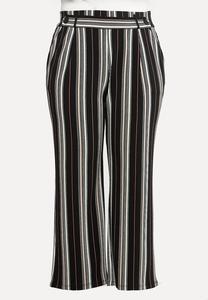 Plus Size Deco Rose Stripe Pants