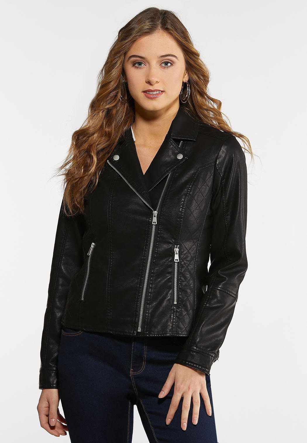 Plus Size Classic Moto Jacket
