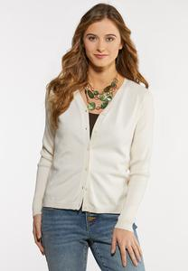 Button Down Cropped Cardigan